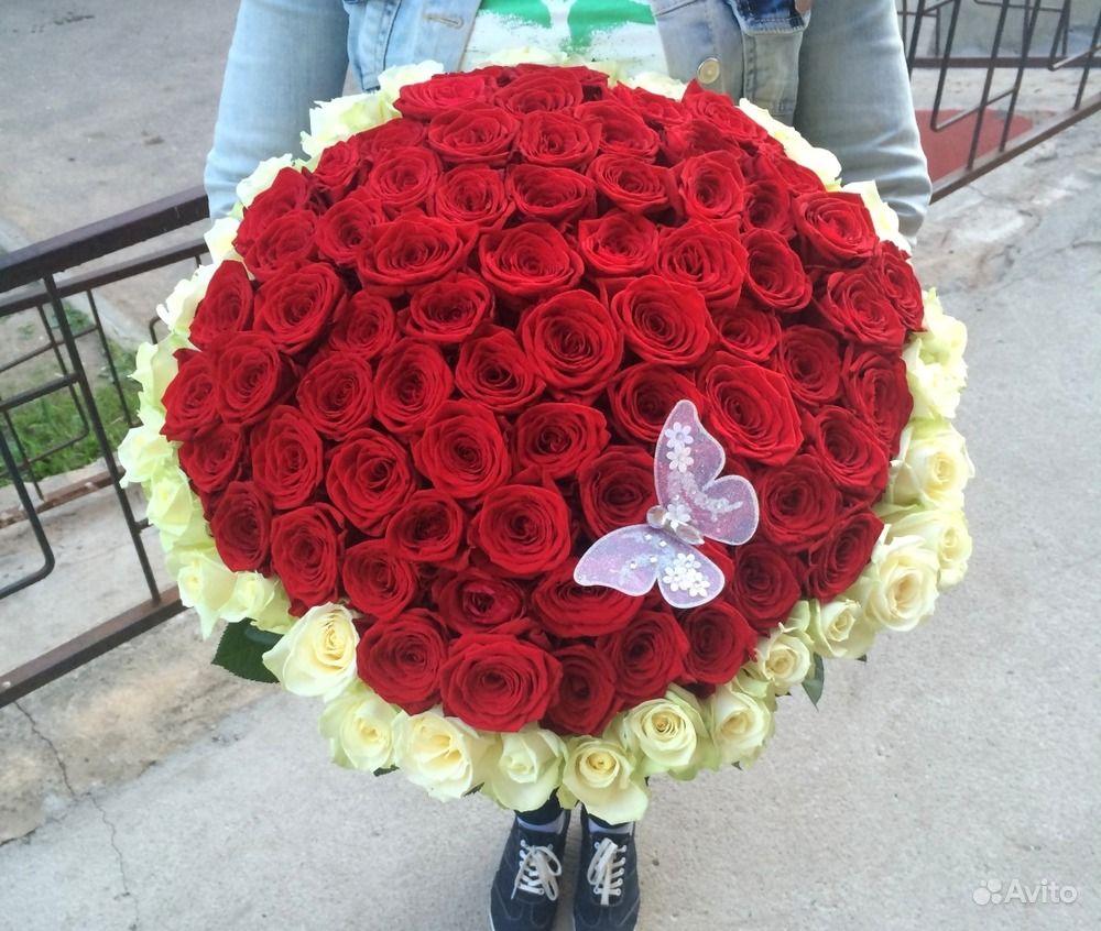 Фото букет цветов 101 роза
