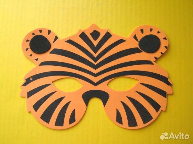 Как сделать маску тигра своими руками из бумаги