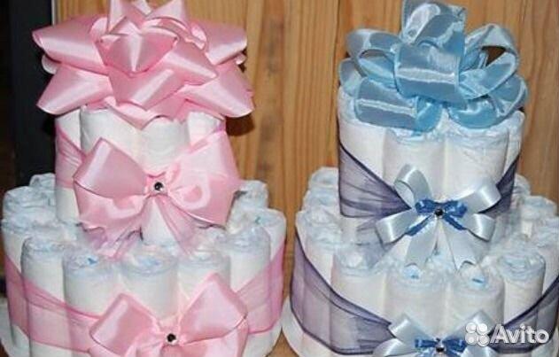 Торт из памперсов своими руками фото для девочек