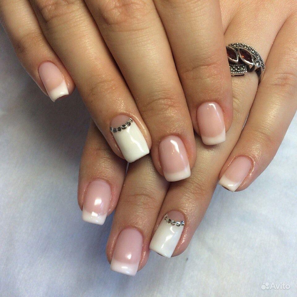 Покрытие шеллак на короткие ногти 174