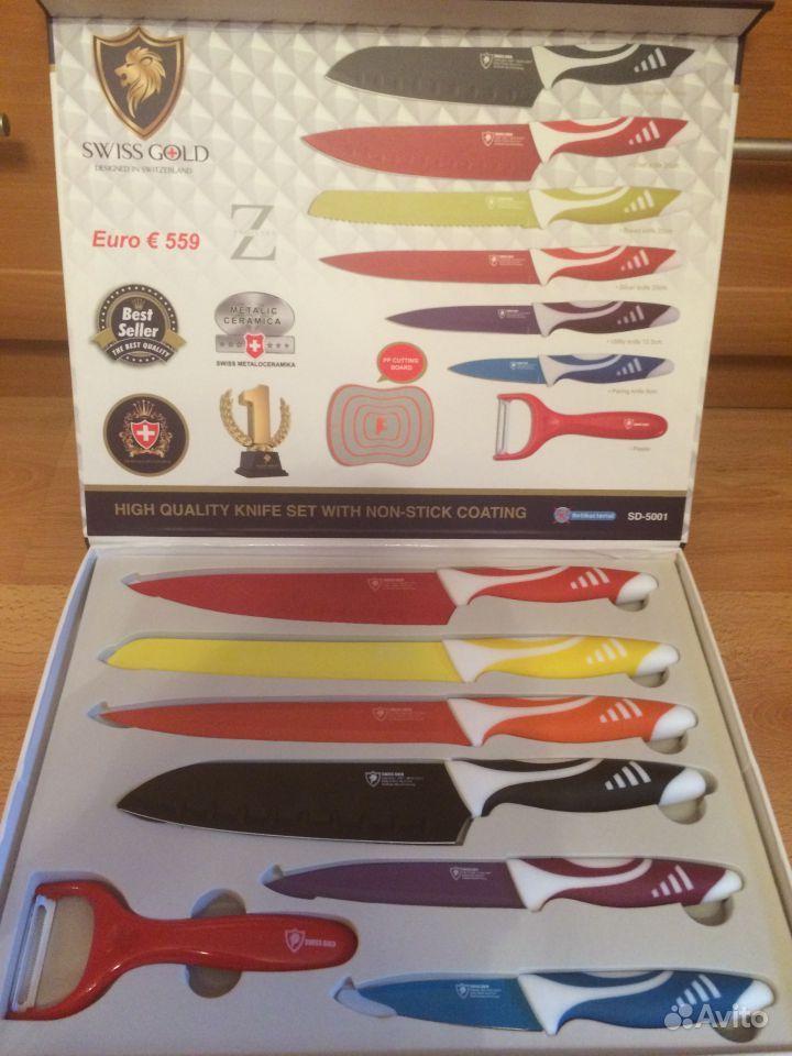 Ножи Swiss home ножи с титановым покрытием swiss home