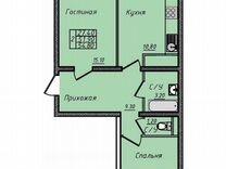 2-к квартира, 54.8 м², 11/25 эт.