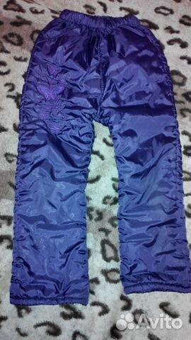 Утепленные зимние штанишки для девочки