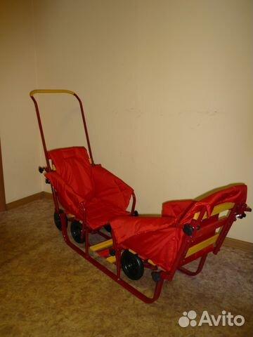 санки на колесиках для двойни купить в москве