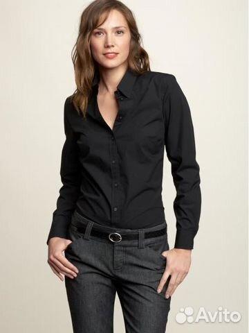 5983abf3b1bd Черные рубашки хлопковые женские р-р 42-44 4 штуки купить в ...