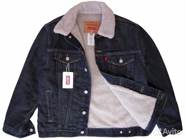 Джинсовая куртка с мехом мужская levis