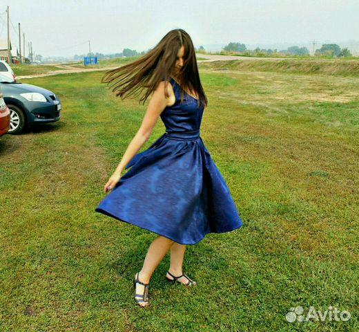 064fc9edc5c Платье синее