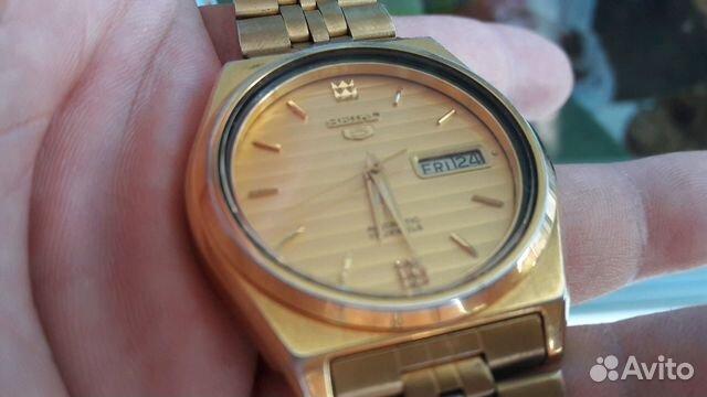 Мужские позолоченные наручные часы Seiko 5 89283211593 купить 4