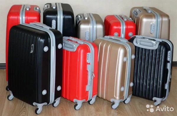 Ударопрочный пластиковый чемодан купить в Москве на Avito ... 020d38ff15f