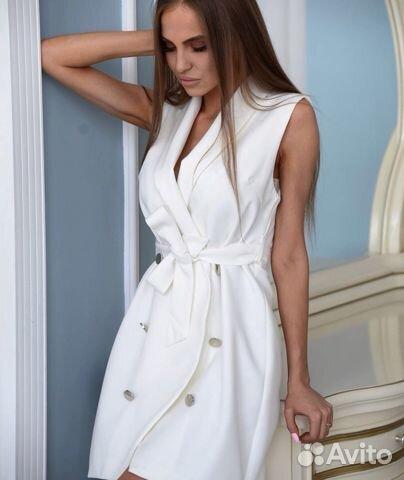 1d956661501 Платье белое назапах купить в Москве на Avito — Объявления на сайте ...