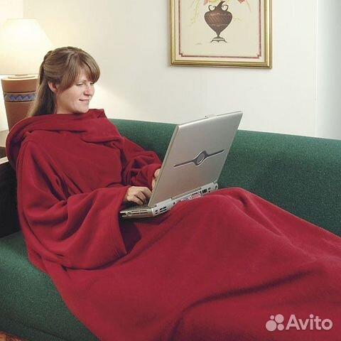 Одеяло плед с рукавами Snuggle купить 1