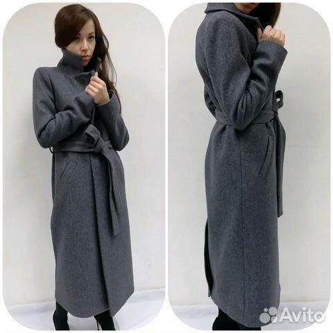 930182d2fc9 Новое осенне-весеннее пальто (серое)