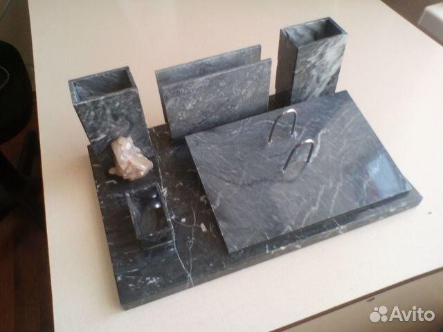 Настольный письменный прибор из натурального камня