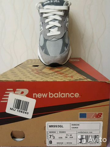 new style 52593 493d5 Кроссовки New Balance WR993GL купить в Москве на Avito ...