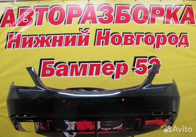 89524408730 Mercedes Benz W222 2013-2017 бампер задний (черн)