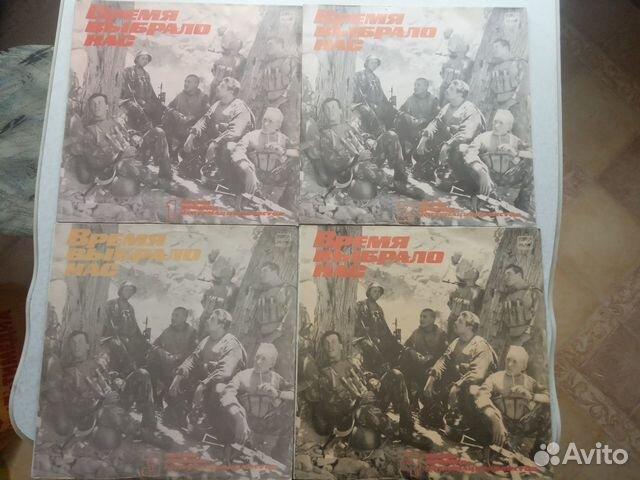 Пластинки виниловые с военными песнями 5 шт  купить 1