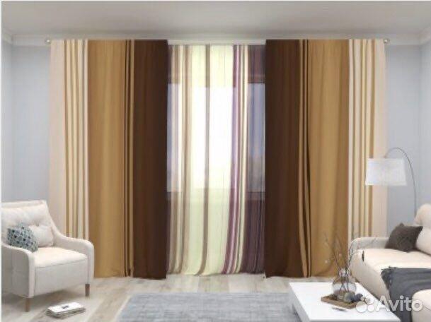 Комплект шторы и тюль  89643533474 купить 1