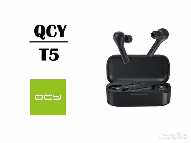 Беспроводные наушники QCY T5 / Новые  89098445968 купить 1