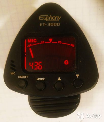 Euphony ET-3000 цифровой стрелочный тюнер-прищепка