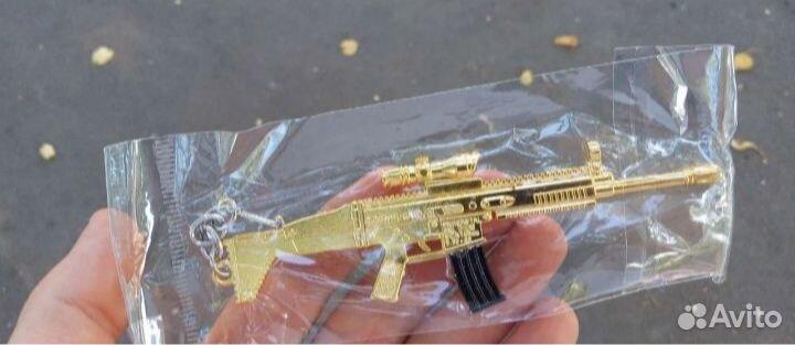 Золотой брелок-автомат pubg  89805409668 купить 2