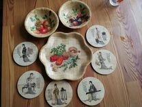 Набор подставок под кружки, стаканы+тарелочки