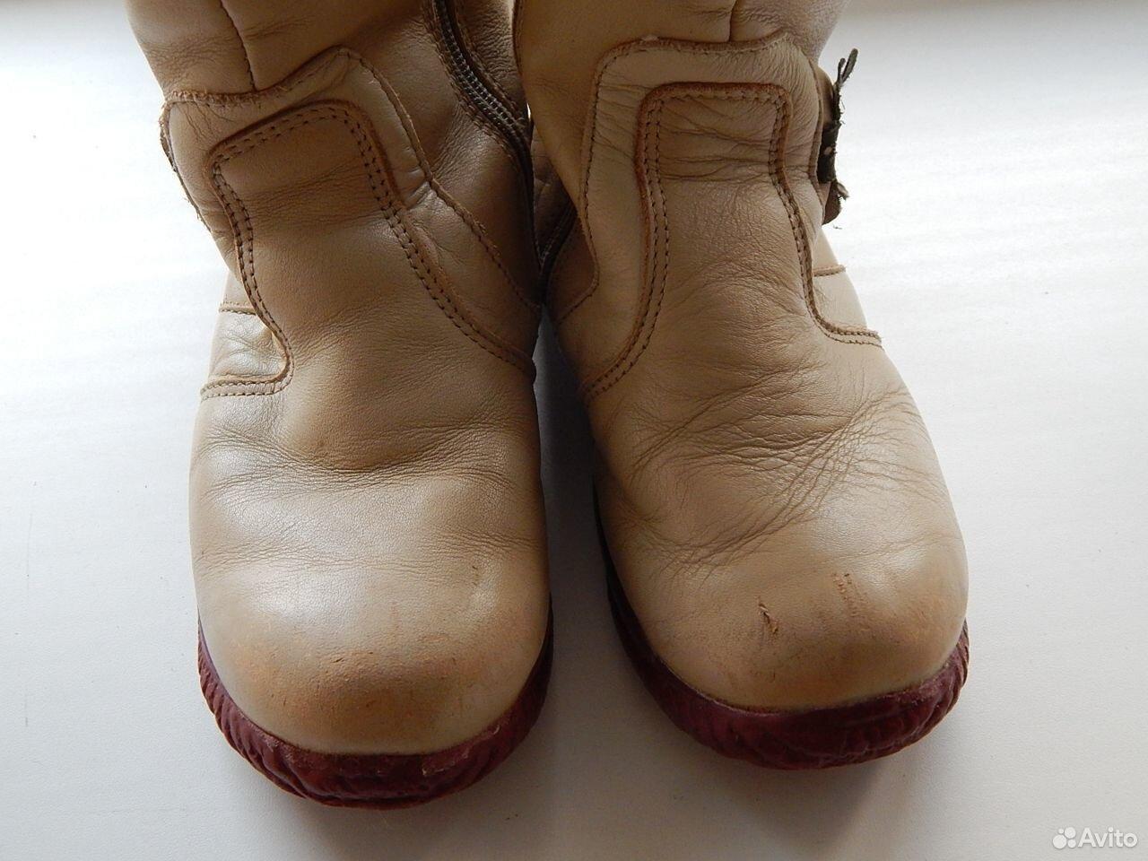 Сапоги кожаные, теплые  89614983783 купить 2