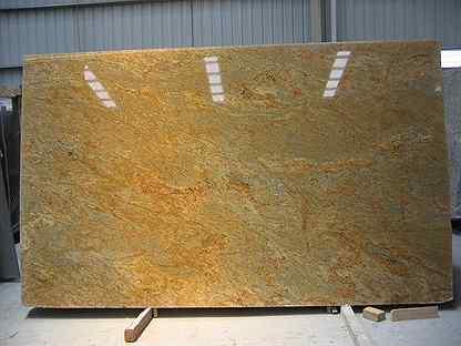 Гранитная плитка, гранит Бразильский золотой (K.G)