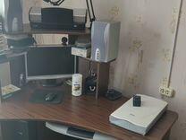 Компьютер с принтером и сканером + стол и стул