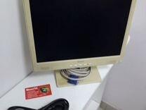 Монитор ЖК 15 дюймов рабочий — Товары для компьютера в Самаре