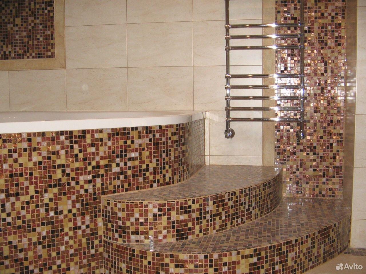 Плиточные работы:Ремонт ванной под ключ  89091220404 купить 4
