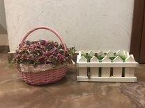 Корзина для цветов — Мебель и интерьер в Москве