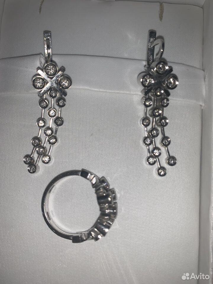 Комплект из Белого золота с бриллиантами  89674183060 купить 1